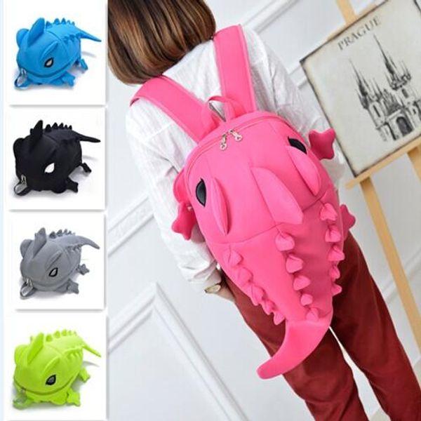 Hot Sale Dinosaur Casual Monster Fashion Styling Nylon Net Fil Sac à dos Double Sac à bandoulière école pour les garçons et les filles Cadeaux 5 couleurs
