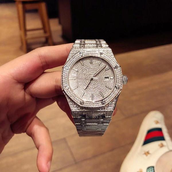 hombre de lujo del reloj de diamantes de los hombres de lujo TW relojes correa plegable mecánica automática todos los hombres de 41 mm mano con incrustaciones mira el reloj de movimiento