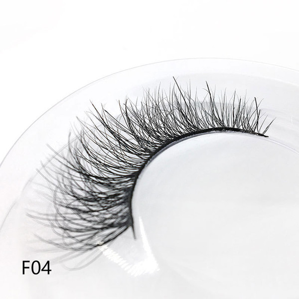 1 paio di capelli visone 3D fatti a mano ciglia finte wispy soffici naturale lungo ciglia croce spesse ciglia estensione occhi strumenti di trucco