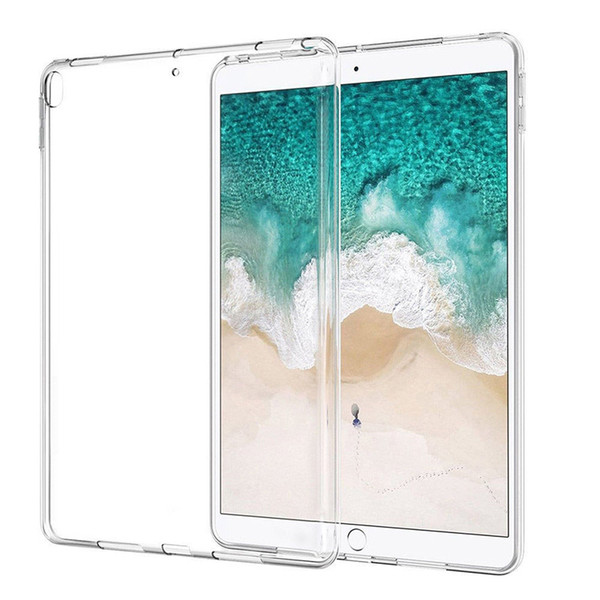 For Apple iPad Candy Color Crystal shell Clear Thin Transparent Soft TPU Protective Back Case Bumper Cover Mini 2 3 Air Air2 Pro