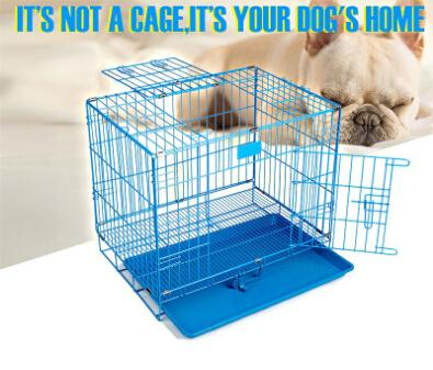 Dog Cage Foldable Pet Iron Cages Creative Breathable Pet Dog House Metal Puppy Teddy Home S M L XL