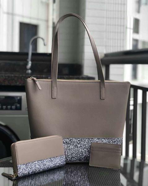 Diseñador de la marca de las mujeres más grande brillo monedero conjunto Patchwork hombro brillante crossbody bolsas de compras pu mujeres bolso totes