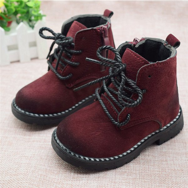 Size 21-30 Fashion 2019 Autumn Boys Baby Boots For Girls Children Martin Boots Kids Ankle Zip Sneakers Girl Casual Toddle Shoes Y190523