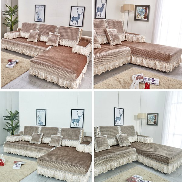 European Thick Suede Sofa Covers For Living Room High Quality Comfortable  Couch Cover Backrest Cushion Sofa Set Recliner Cover Living Room Chair ...
