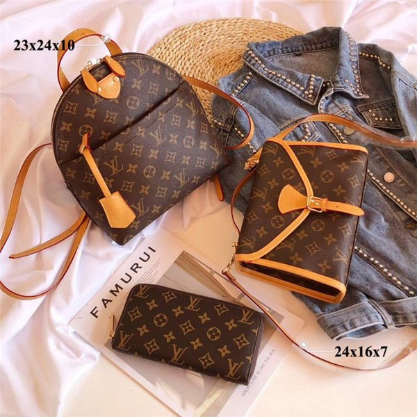 sale 3 piece set designers bags women crossbody bag genuine leather luxury handbags purses designers lady tote bags coin purse three item 01