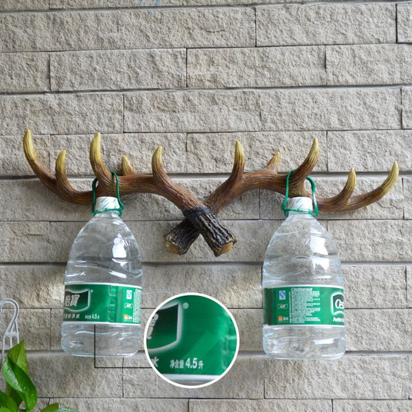 Retro Simulation Antlers Coat Rack Multi Color Wall Hanging Clothes Hook Home Decor High Quality 30yha p