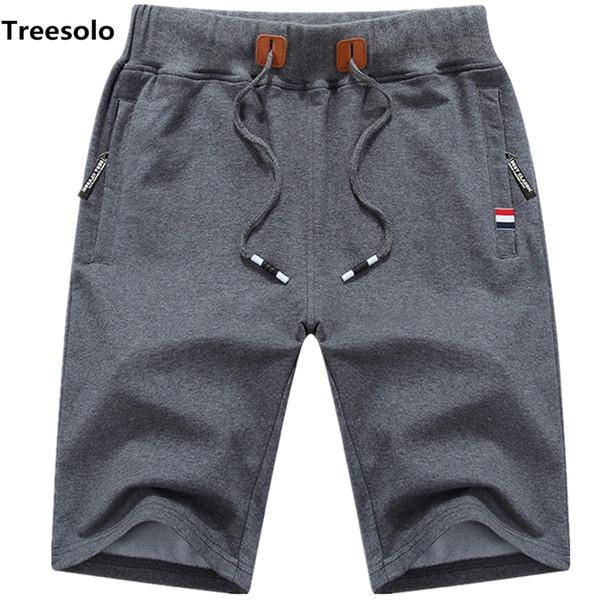 Cotton Shorts Men Summer Beach Short Male Casual Shorts Mens Solid Boardshorts High Quality Elastic Fashion Short Men S-5xl 1012 Y19042604