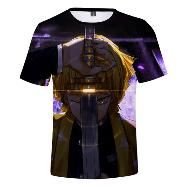 The latest summer cool men's casual T-shirt Ghost Blade shirt T-shirt men and women short-sleeved printing O-neck casual