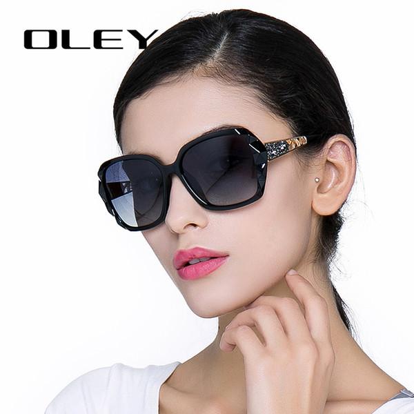 18d75e5483aff5 Oversized Zonnebril Vrouwen Luxe Merk Ontwerp Elegante gepolariseerde  Glazen Vrouwelijke Prismatische bril Oculos De Sol mulher