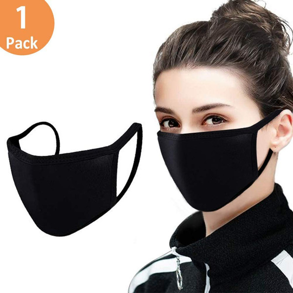 top popular Adjustable Anti Dust Face Mask,Black Cotton Mouth Mask Muffle Mask for Cycling Camping Travel,100% Cotton Washable Reusable Cloth Masks 2020