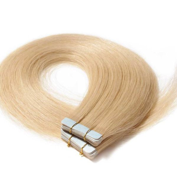 High Quality 100% virgin human hair,Double Drawn Blonde Tape In Remy Hair Extensions 50g 20pcs