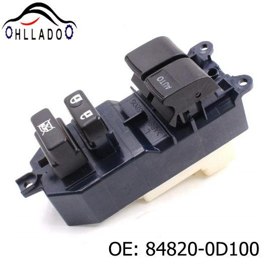 best selling HLLADO Car Electric Power Window Master Control Switch 84820-0D100 848200D100 for T oyota Yar is 2005-2011 Power Window Switch