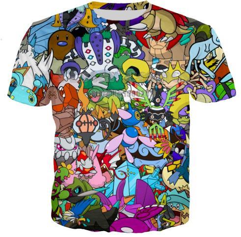 29202228 New Hot Fashion Funny Classic Anime Harajuku Style Cartoon 3D T Shirt Print  Funny T Shirt Summer Short Sleeve Tops Tees Hip Hop Style K1055
