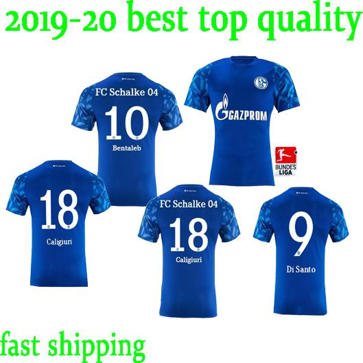 Großhandel 2019 2020 Fc Schalke 04 Trikots 19 20 Maillot De Foot SERDAR McKennie Caligiuri Embolo BENTALEB BURGSTALLER Trikots Von Wuqiliaang5678,