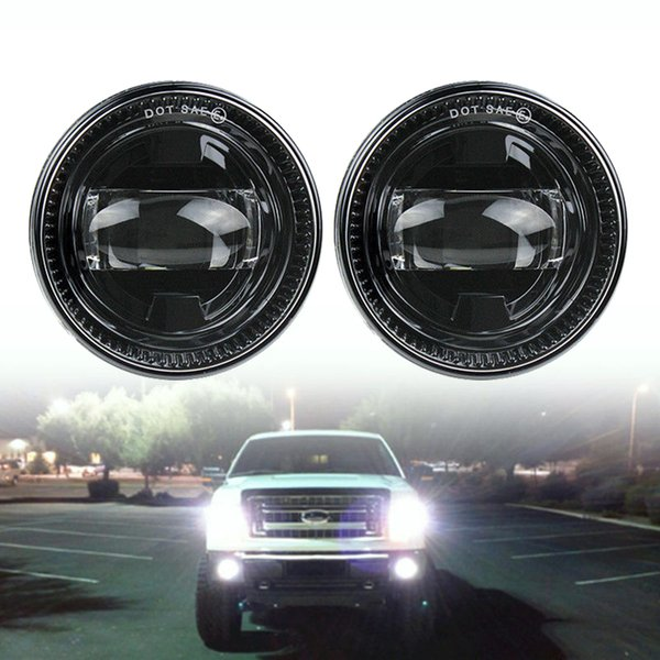 2019 Waterproof H11 6000k Black Car Front Led Fog Lights Bumper Driving Fog Lamps For Ford F150 2007 2014 From Zehancar 10849 Dhgatecom