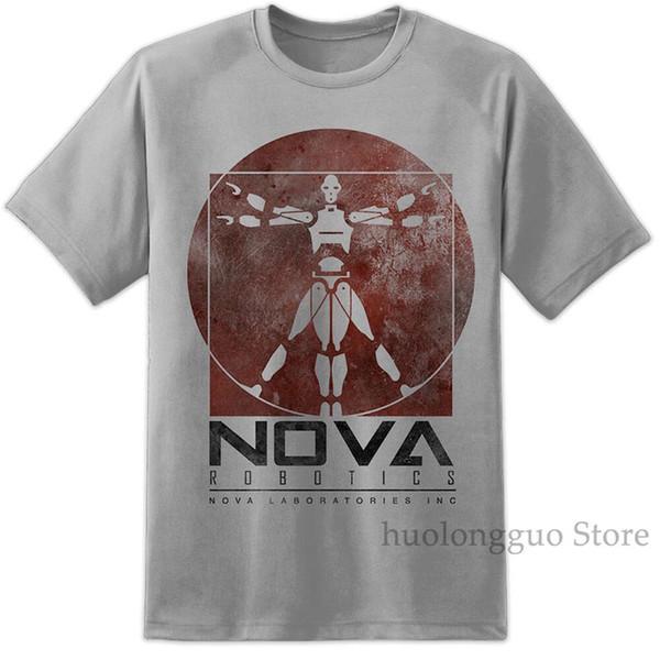 Herren Nova Robotics Kurzschluss T-Shirt Laboratories Retro Jonny 5 Film 100% Baumwolle Herren T-Shirt Damen Tops T-Shirt