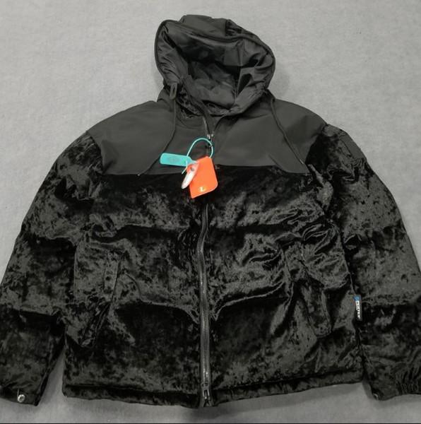 Yeni Tasarımcı Erkek Kış Ceket Marka Parka Aşağı Coat Kadınlar Casual Kalın Coat Sokak Harf Nakış Patchwork Lüks Coat B101694Q