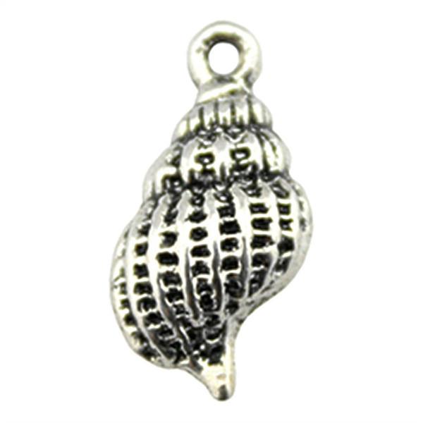 200 pcs Charme Shell Concha Concha Pingente Encantos Para Fazer Jóias Antique Silver Concha Encantos 20x10x4mm