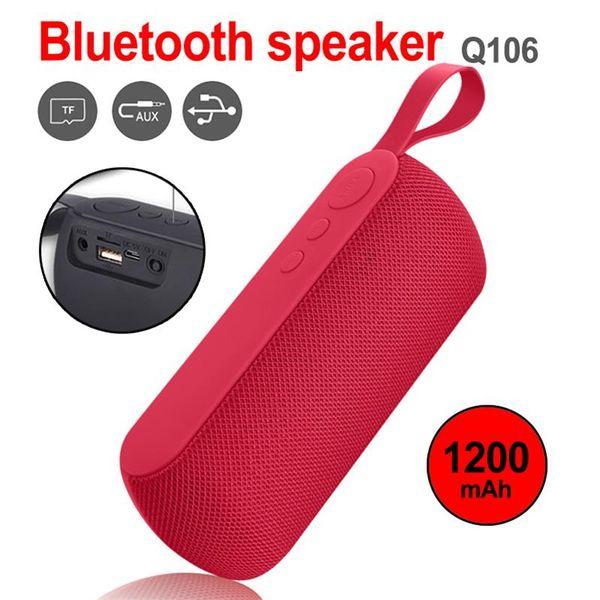 Q106 tragbarer Lautsprecher Bluetooth TF Outdoor Sport Bass drahtloser Lautsprecher für Computer Subwoofer Stereo für Smartphones