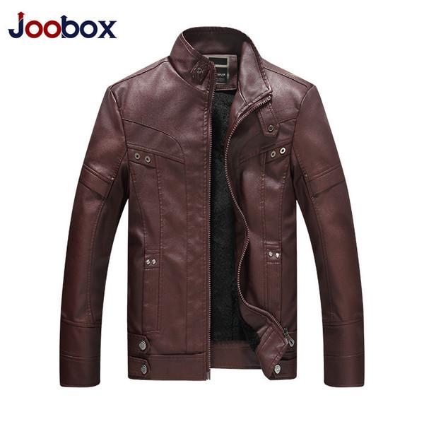 Мотоцикл повседневная кожаная куртка мужчины Осень Зима флис теплые молнии PU байкер куртка мужской верхней одежды Jaqueta де Couro Masculina