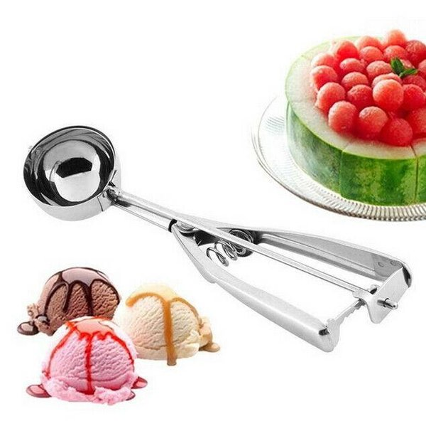 Stainless steel ice cream scoops diameter 4/5/6cm fruit spoon cookies spoon ball maker cooking tool MMA1436