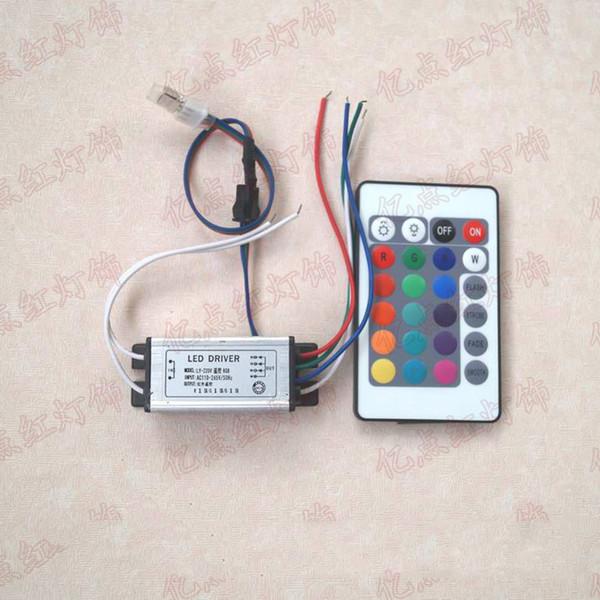 RGB 3W التحكم عن بعد ضوء ملون