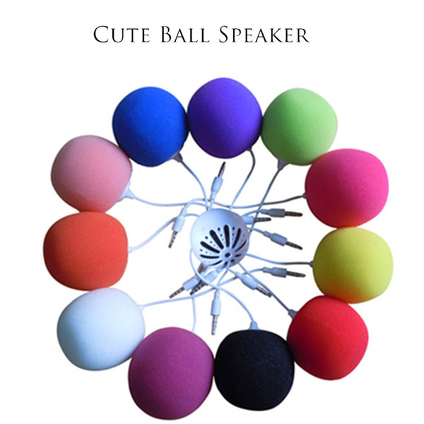 Wired Cute Speakers Audio 3.5mm Ball Mini Speaker Outdoor Portable Audio Dock For ISO Android HIFI Speaker With USB Cable