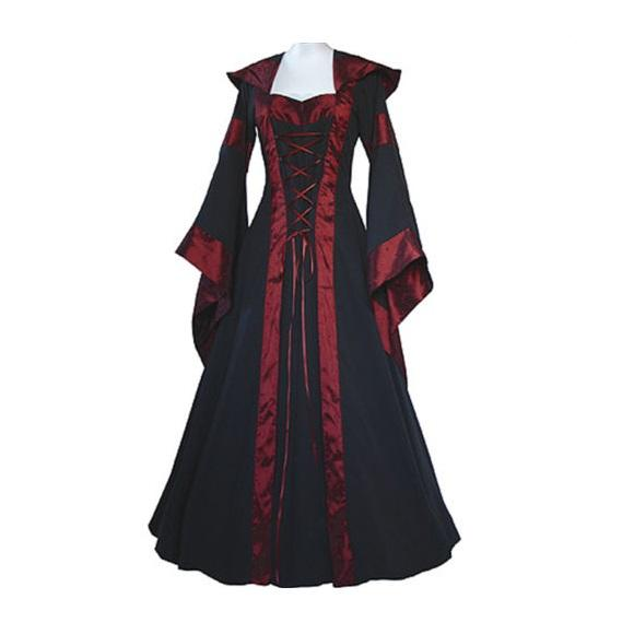 Medieval Dress New Women Vintage Style Gothic Dress Costume Pirate Ball Gown Peasant Wench Victorian