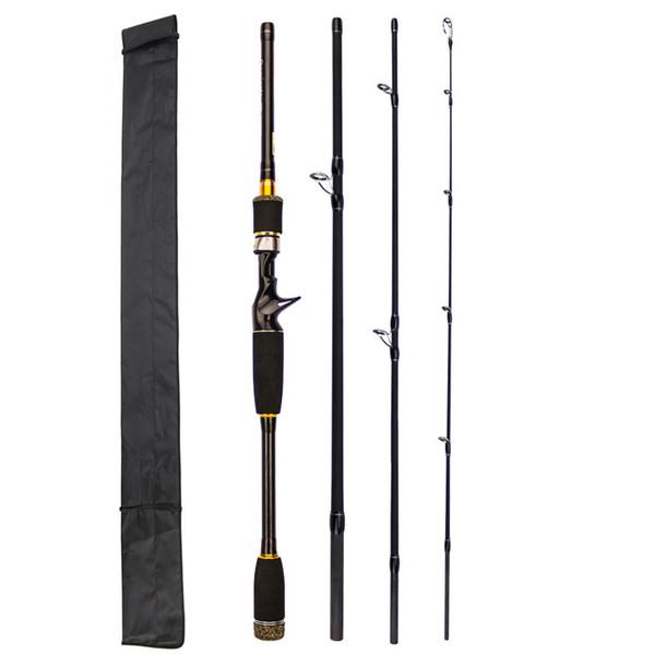 2.1m/2.4m/2.7m Optional 4 Section Carbon Fiber Lure Fishing Rod M Power Ultra Light Casting Fishing Pole