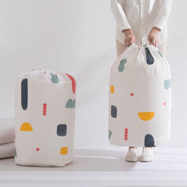 Faltbare Kleidung Decke Quilt Aufbewahrungstasche Geometrie-Blumen-Drucken Pullover Organizer große Kapazitäts-Bundle Taschen-Taschen ZZA1199