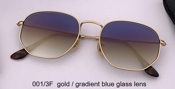 001 / 3F الذهب / عدسة زرقاء التدرج