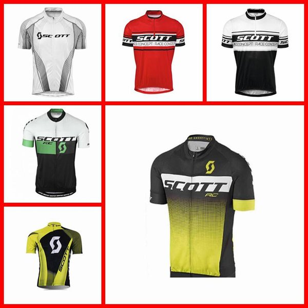 SCOTT team Cycling Short Sleeves jersey Fashion Men factory direct sale outdoor Comfortable Multi Types 2019 new Cheap N30806