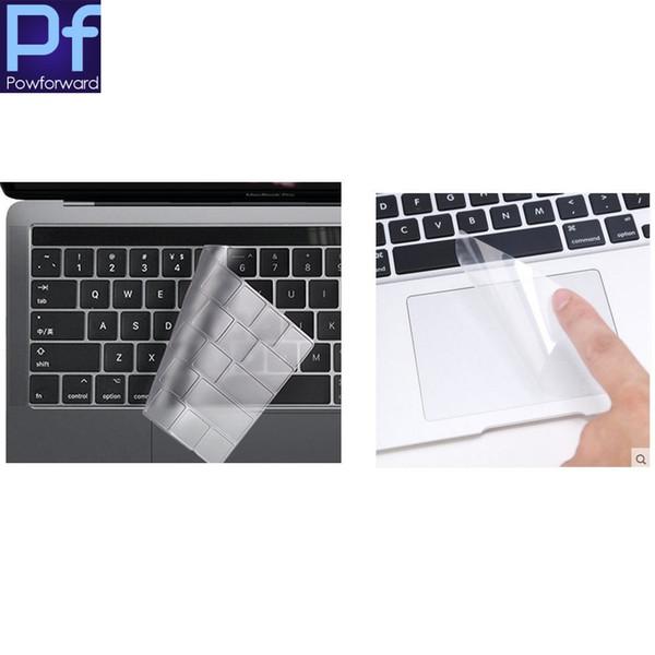 2 em 1 de alta limpar tpu filme tampa do teclado para macbook pro 13 com barra de toque 2016.10 release a1706 + touchpad protetor
