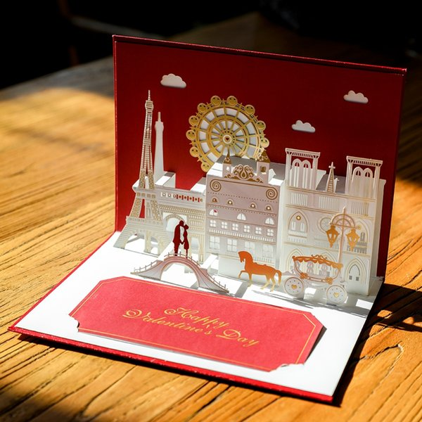 Compre San Valentín Regalos Invitación De La Boda 3d Hasta Tarjetas De Corte Por Láser Tarjetas De Invitación Para El Grado Matrimonio Postales Hechas