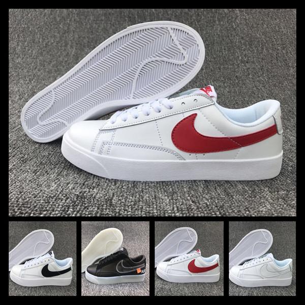 high quality quality products reasonable price Acheter Avec Montre De Sport 2019 Designer Shoes Nike Men Women SB Blazer  Bruin Low QS Chaussures De Toile Arc En Noir Noir Hommes Femmes Skate ...