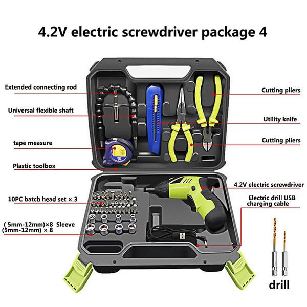 Sans fil tournevis électrique Batterie rechargeable au lithium 90 degrés de rotation Drill Ciseaux Pinces mesurer la puissance pour ménage