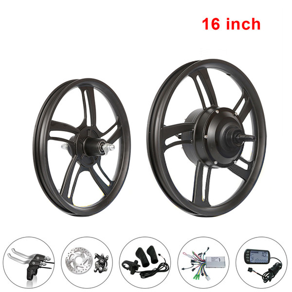 High Speed 16 inch Hob Motor Wheel Kit Electric Bicycle Motor Brushless Entire Completed Wheel Rear Drive 36V48V250W Gear Motor