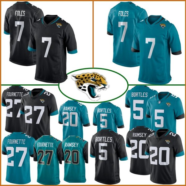 on sale 060bc 613ad 2019 7 Nick Foles Jacksonville Jerseys Jaguars 20 Jalen Ramsey 5 Blake  Bortles 27 Leonard Fournette 84 Keelan Cole Top Quality Jersey Stitched  From ...