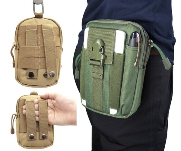 Tactical Molle Hip Multi-function Bags Outdoor Camping Climbing Bag Sport Waist Belt Wallet Running Pouch Purse Phone Case Hot Wholesale