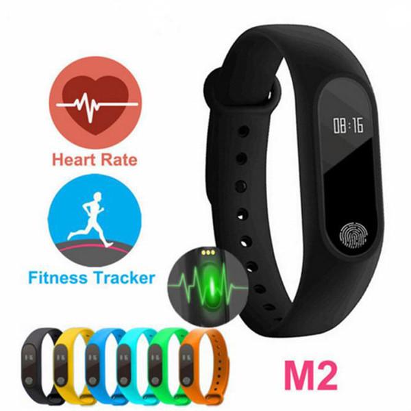 M2 Fitness tracker Banda de reloj Monitor de ritmo cardíaco Rastreador de actividad a prueba de agua Pulsera inteligente Podómetro Llamada recordar Salud Pulsera 07