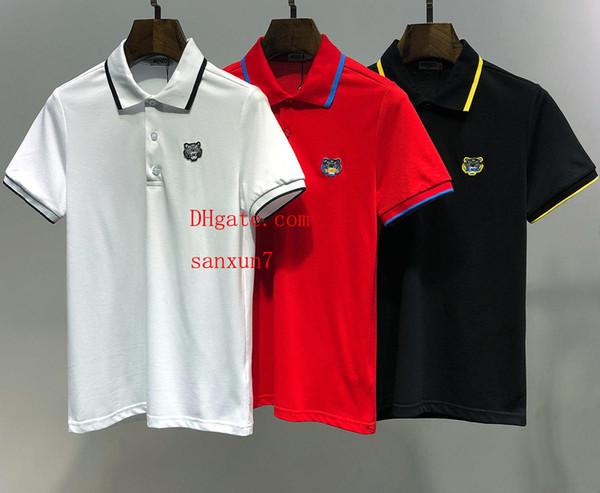 Erkek İtalya stil polo gömlek yaka Iş t shirt moda Marka mektubu nakış eğlence Yüksek sokak atı polo gömlek mens off-w25