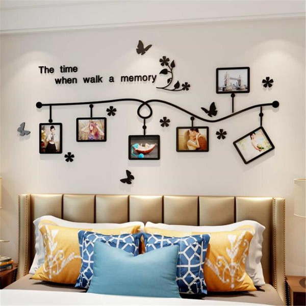 Acrylic Wall Sticker Vinyl Posters Decal For Picture 3 Size Removable Photo Frame Family Stickers Home Decor Living Room