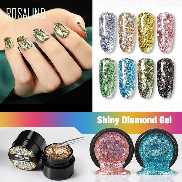 best selling ROSALIND Gel Nail Polish Rainbow Neon Hybrid Varnishes For nails Manicure set Decoration Need Base top coat UV LED Gel