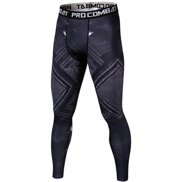 2018 Fashion Men Compression Pants Black Panther Skinny Legging Fitness Male Sweatpants Breathable Joggers G ym Casual Pants Men