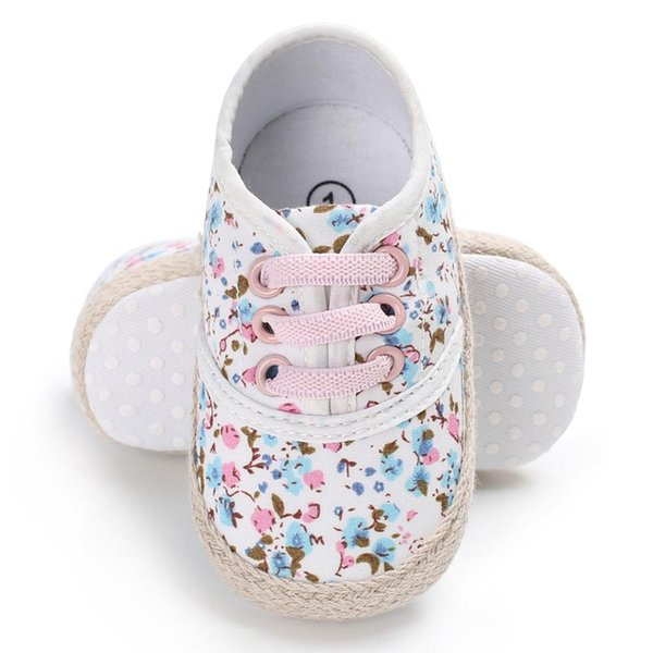 Baby Girl Breathable Floral Print Anti-Slip Shoes Sneakers Toddler Soft Soled 0-18M New