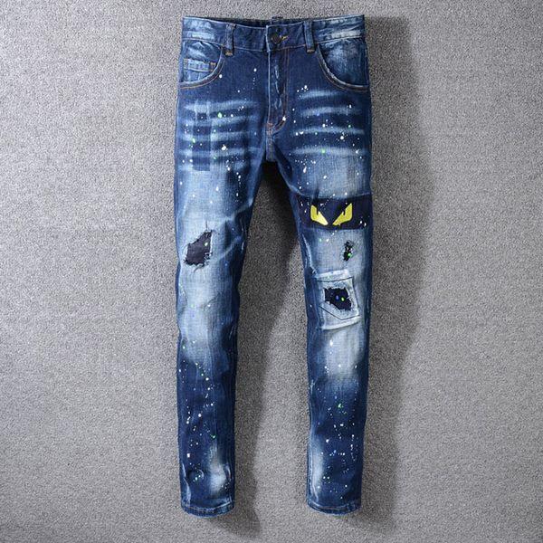 2019 Nouveaux Hommes Jeans De Mode Hommes Designer Jeans Pantalon Décontracté Pantalon Lâche Designer Jeans Taille 28-40 / Livraison Gratuite