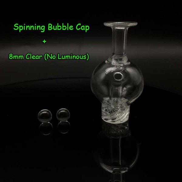 Casquillo de la burbuja + 8mm perlas claras