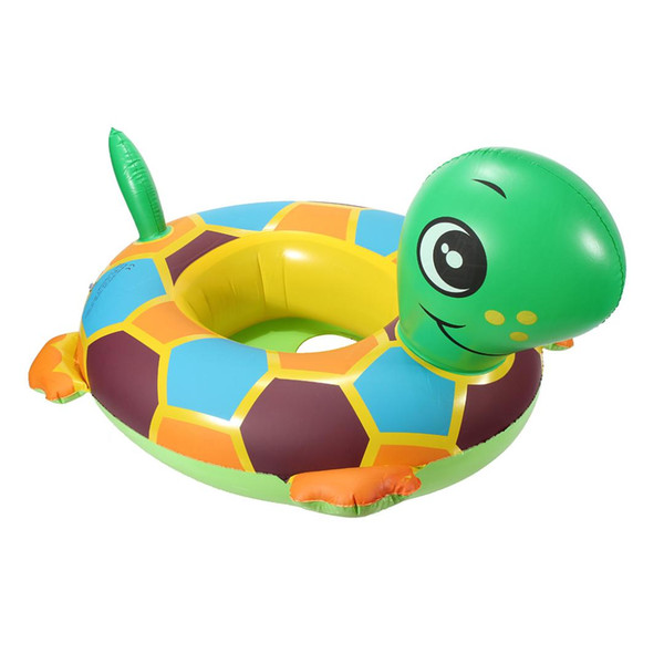 Inflatable PVC Plastic 62X51.5X13.5cm Tortoise Baby Kids Toddler Infant Swimming Float Seat Boat Pool Ring Load-bearing 11kg