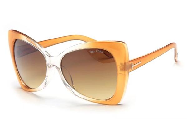 2019 Üst Lüks güzel qualtiy Moda TF175 Adam Kadın Için Tom Güneş Gözlüğü gölge Gözlük ford Tasarımcı Marka Güneş Gözlükleri