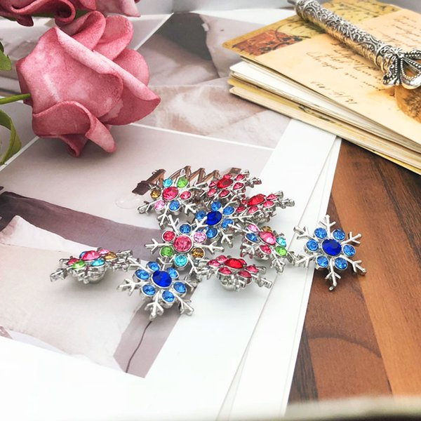 Flower Snowflake w170 Crystal 3D 18mm 20mm Metal Snap Button For Bracelet Necklace Interchangeable Jewelry Women Accessorie Findings